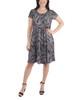Cap Sleeve Allover Pleated Dress~Black Huellas*MITD3908