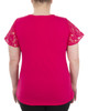 Lace Flutter Sleeve Crochet Trim Top~Rose Mariajose*MKPU0831