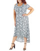 Plus Size Cold Shoulder High-Low Maxi Dress~Turq Hazylis*WITD3466