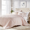 Solid Medallion Microsculpt Comforter Set~Blush*2A8645C