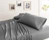Garment Washed Microfiber Sheet Set~Charcoal*2A8653S