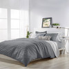 Solid Ogee Microsculpt Comforter Set~Charcoal*2A8644C