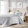 Solid Medallion Microsculpt Comforter Set~Grey*2A8645C