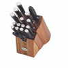 Anolon 17-Piece Japanese Stainless Steel Knife Block Set - Black~55320