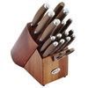 Anolon SureGrip 17-Piece Japanese Stainless Steel Knife Block Set - Bronze~46322