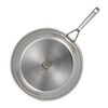 Anolon Tri-Ply Clad Stainless Steel 12.75-inch Covered Skillet~30830
