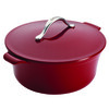 Anolon Vesta Cast Iron Cookware 7-Quart Round Covered Dutch Oven - Paprika Red~51822