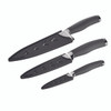 Anolon SureGrip 3-Piece Japanese Stainless Steel Chef Knife Set with Sheaths - Gray~51800