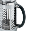 BonJour Coffee Glass and Stainless Steel 33.8-Ounce French Press - Chevron~52888
