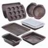 Circulon Nonstick Bakeware 10-Piece Bakeware Set - Chocolate Brown~46857