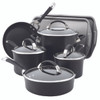 Circulon Symmetry Hard Anodized Nonstick 9-Piece Cookware Set plus 2-Piece Bakeware Set - Black~82983