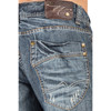 Level 7 Men Relaxed Straight Premium Whisker Scratched Jeans - Waterfall Blue Wash~LV125198-1069WTFL