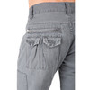 Level 7 Men's Charcoal Gray Relaxed Straight Premium Canvas Utility Jeans with Cargo Zipper Pockets~LV126501-CHARCOAL