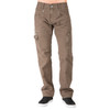 Level 7 Men's Fatigue Brown Relaxed Straight Premium Canvas Utility Jeans with Cargo Zipper Pockets~LV126501-FATIGUE