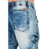 "Level 7 Men's Medium Clouded Blue Premium Knit Denim 18"" Jogger Capri with Rib Bottom and 3D Whiskering~LV151551-1611CLOUDED"