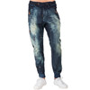 Level 7 Men's Premium Indigo Knit Denim Jogger Jeans with Twister Drop Crotch - Tainted Vintage~LV141543-1895STRIKER