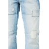 Level 7 Men's Relaxed Straight Blue Bleached Premium Denim Jeans with Distressing~LV135503-1612HEAVLY