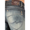 Level 7 Men's Relaxed Straight Leg Dark Tint Premium Denim Jeans with Wrinkle Whiskering~LV125198-827DKTINT