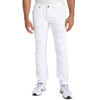 Level 7 Men's Slim Straight Leg Distressed White Premium Denim Cargo Jeans~LV176504-3044SNOWMAN