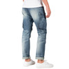 Level 7 Men's Slim Straight Premium Denim Distressed Cargo Pocket Jeans~LV175561-2935VAGABOND