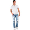 Level 7 Men's Slim Tapered Leg Premium Knit Denim Bleached Moto Jeans with Distressing~LV175557-2912SPECIALK