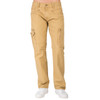 Level 7 Men's Tan Garment Washed Premium Canvas Relaxed Straight Utility Jeans with Cargo Zipper Pocket~LV126501-TIMBER