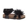 Laura Ashley Flower Sandals for Toddler Girls~Black Patent*O-LA81921E