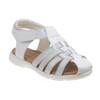 Laura Ashley Glitter Fisherman Sandals for Toddler Girls~White Patent*O-LA82005C