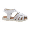 Laura Ashley Glitter Fisherman Sandals for Toddler Girls~White Patent*O-LA82005C