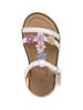 Rugged Bear Girls' Flower Detail Open Toe Sandals~White*O-RB81307S