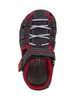 Youth Rugged Bear Boys' Active Sandals~Black Red*O-RB81480M