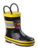 Youth Rugged Bear Boys' Rain Boots~Black Yellow*O-RB81760D