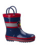 Youth Rugged Bear Boys' Rain Boots~Navy Red*O-RB81760D