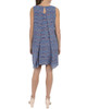 Chevron Print Split-Back Necklace Shift Dress~Blue Gemwave*MCRD0078