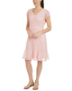 Flounce Hem Sheath Lace Dress~Blush Linelace*MLAD0258