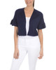 Short Bell Sleeve Shrug~Harbor Navy*MSSR1408