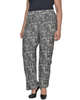 Plus Size Elastic Waistband Print Pants~Jet Ruffplume*WITP0693