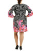 Plus Size Long Angel Sleeve Shift Dress~Joyful*ZITD3253