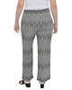 Plus Size Elastic Waistband Print Pants~Noir Linkpeak*WITP0655
