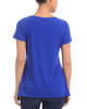 Short Sleeve Front Knot Top with Necklace~Ollie Blue*MITU5976