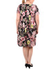 Plus Size Cap Sleeve Pleated Dress~Petal Overlook*WITD3398