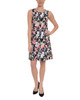 Print Sleeveless Fit and Flare Dress~Pink Serenity*MITD3497