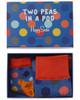 Happy Socks 2 Peas In A Pod Sock Set~10102141180000