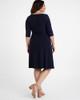 Kiyonna Women's Plus Size Sweetheart Knit Wrap Dress~Navy/Blue*11112202