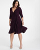 Kiyonna Women's Plus Size Whimsy Wrap Dress~Purple/Plum*11122201