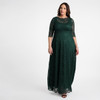 Kiyonna Women's Plus Size Leona Lace Gown~Green/Emerald*1180902