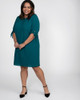 Kiyonna Women's Plus Size Manhattan Shift Dress~Teal Me About It*1191302