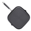 Anolon Advanced Hard-Anodized Nonstick 11-inch Deep Square Grill Pan with Pour Spouts - Gray~83629