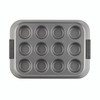 Anolon Advanced Nonstick 12-Cup Muffin Pan with Silicone Grips - Gray~54710