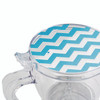 BonJour Coffee and Tea 19.5-Ounce BPA-Free Plastic Smart Brewer - Blue Chevron~46300